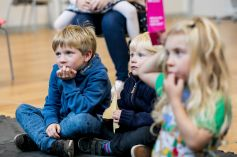 Rapt audience at Wick Road Library