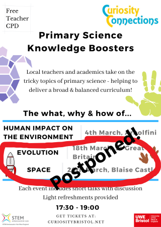 Curiosity Boosters School Poster - postponed